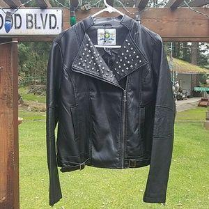 Gazoz Italy Studded PU Jacket - Large